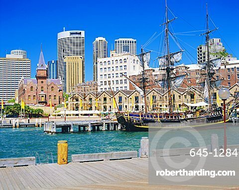 Historical district of The Rocks, Sydney, New South Wales, Australia