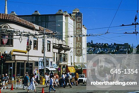 The Castro district, a favorite area for the gay community, San Francisco, California, USA