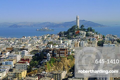 Coit Tower on Telegraph Hill, San Francisco, California, USA