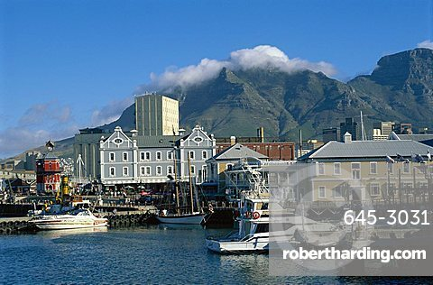 The V & A Waterfront, with Table Mountain behind, Cape Town, South Africa