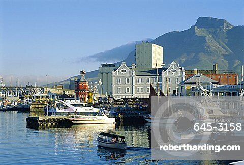 V & A Waterfront with Table Mountain, Cape Town, South Africa
