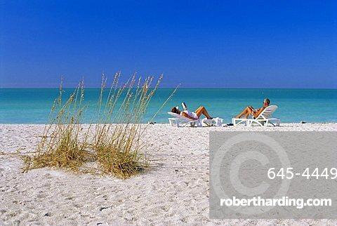 Gulf Coast beach, Anna Maria Island, north of Longboat Key, Florida, USA