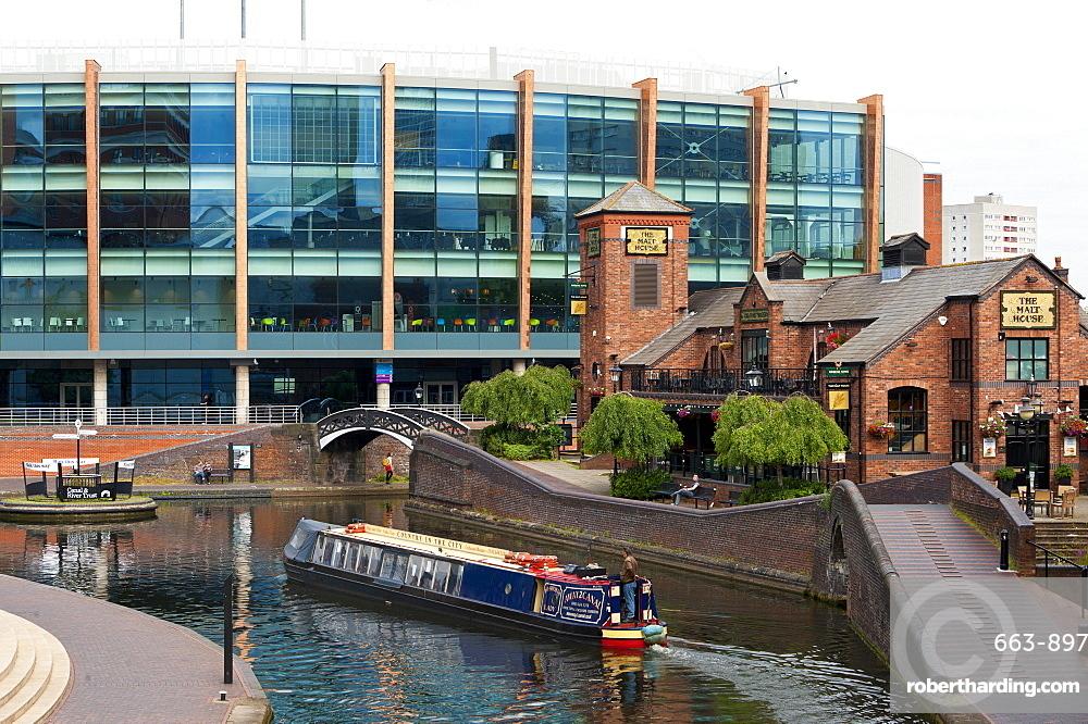Canal system, Birmingham, West Midlands, England, United Kingdom, Europe
