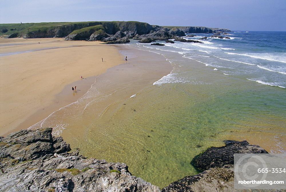 Donnant beach, Belle Ile en Mer island, Brittany, France, Europe