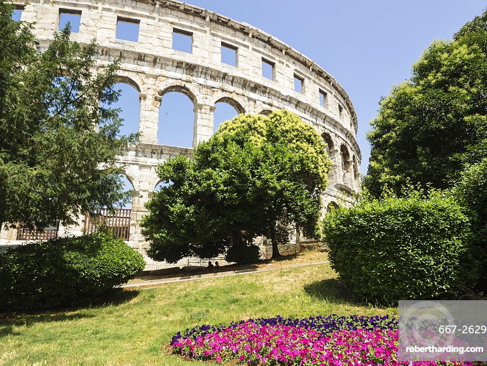 The Colosseum, Pula, Istria, Croatia, Europe