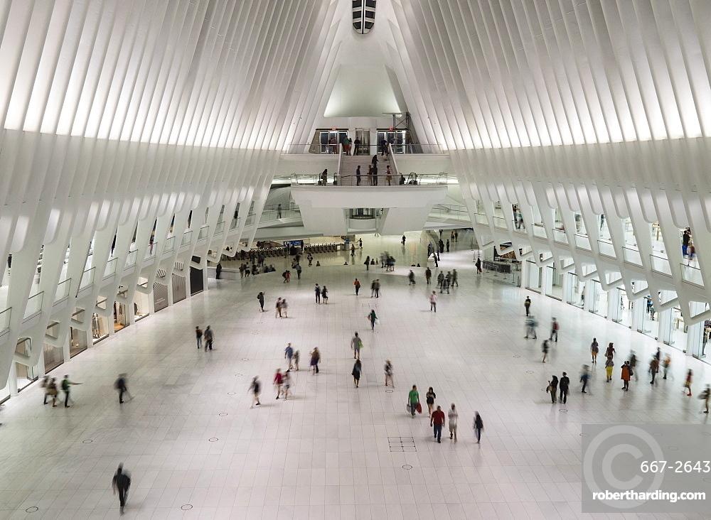 Calatrava's World Trade Center Oculus Shopping Mall, New York, United States of America, North America