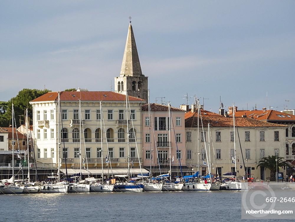 Harbourfront at Porec, Istria, Croatia, Europe
