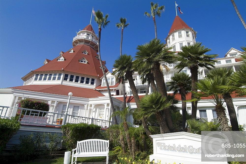 Hotel del Coronado, National Historic Monument dating from 1891, Coronado, California, United States of America, North America