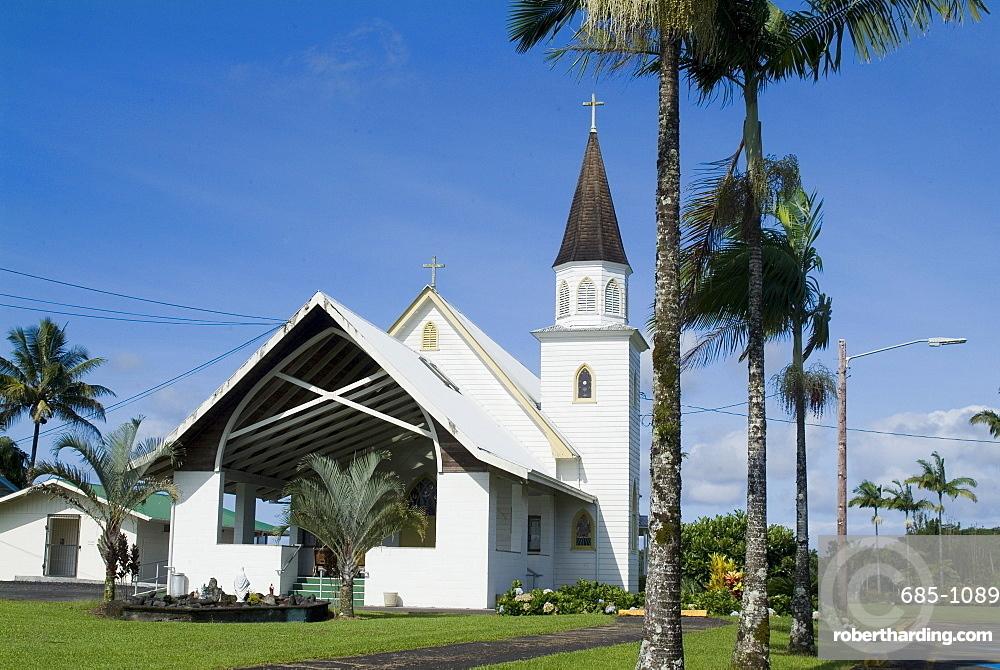 Sacred Heart Catholic Church, Pahoa, Island of Hawaii (Big Island), Hawaii, United States of America, North America