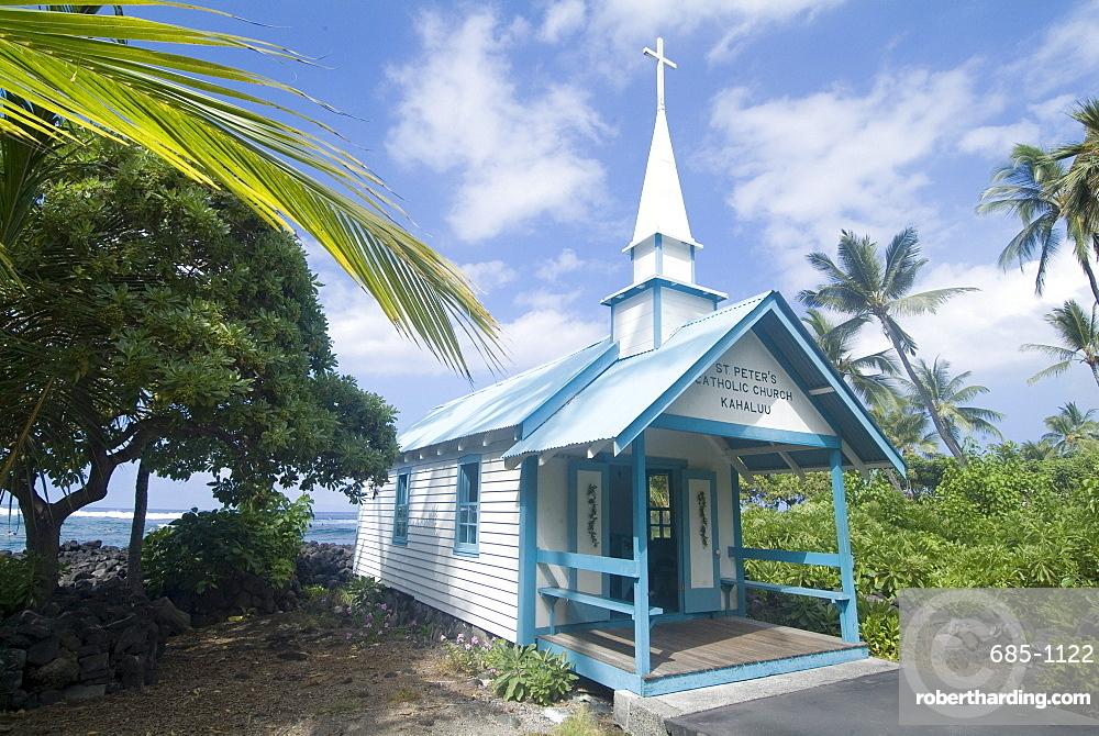 St Peter's Catholic Church, near Kailua-Kona, Island of Hawaii (Big Island), Hawaii, United States of America, North America