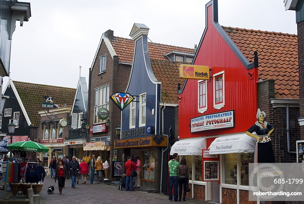 Town view, Volendam, Netherlands, Europe