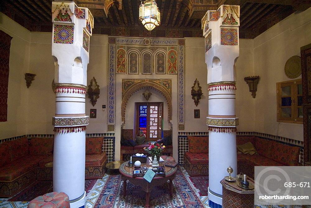 Maison Mnabha riad (small local hotel), Marrakech, Morocco, North Africa, Africa