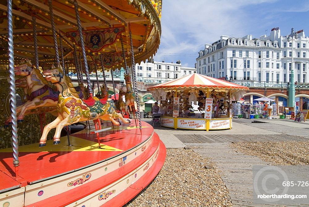 Carousel on Brighton Beach, Brighton, Sussex, England, United Kingdom, Europe