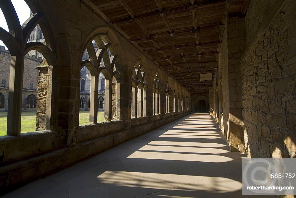 Cloisters, Durham Cathedral, UNESCO World Heritage Site, Durham, County Durham, England, United Kingdom, Europe