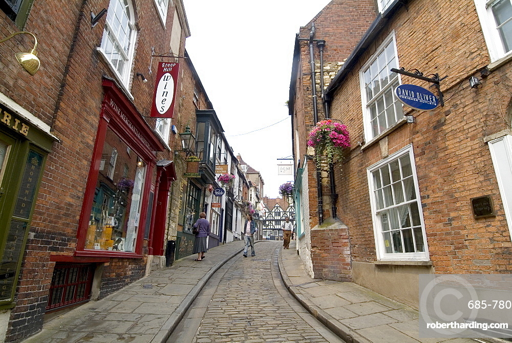Lincoln city centre, Lincoln, Lincolnshire, England, United Kingdom, Europe