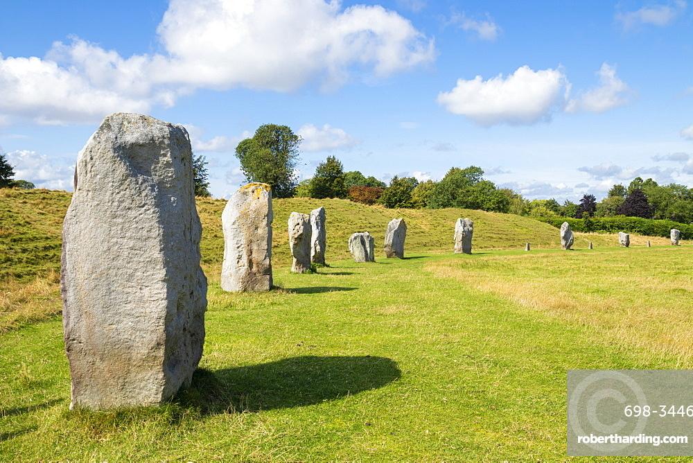 Standing stones at Avebury stone circle, Neolithic stone circle, UNESCO World Heritage Site, Avebury, Wiltshire, England, United Kingdom, Europe