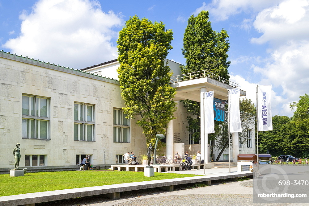 The entrance to the Ljubljana Museum of Modern Art Cankarjeva cesta Ljubljana Slovenia EU Europe