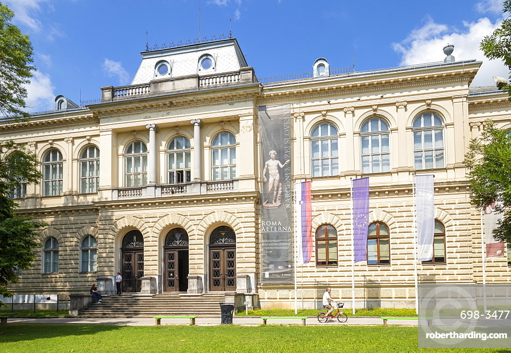 Slovenian Museum of Natural History and the National Museum of Slovenia, front entrance, Ljubljana, Slovenia, Europe