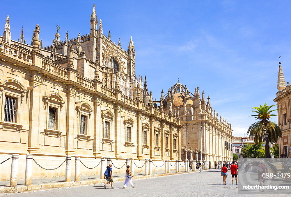 Seville Cathedral of Saint Mary of the See, Calle Fray Ceferino Gonzalez, UNESCO World Heritage Site, Seville, Andalusia, Spain, Europe