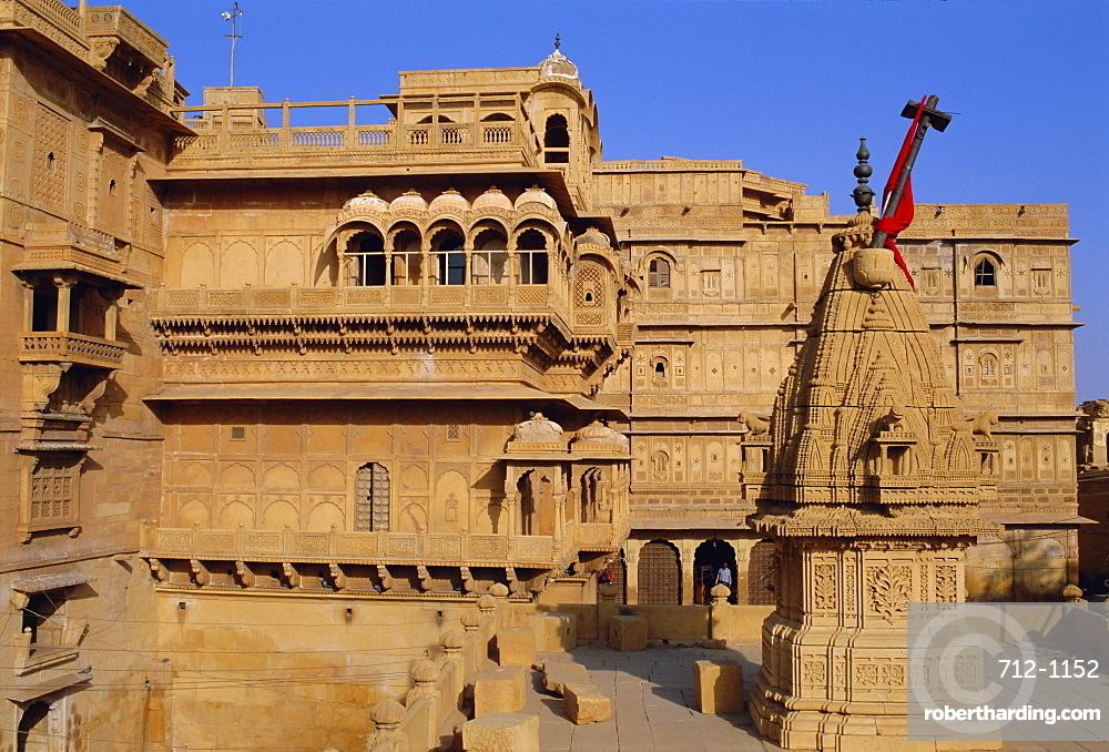 Raj Mahal palace, Jaisalmer, Rajasthan, India, Asia