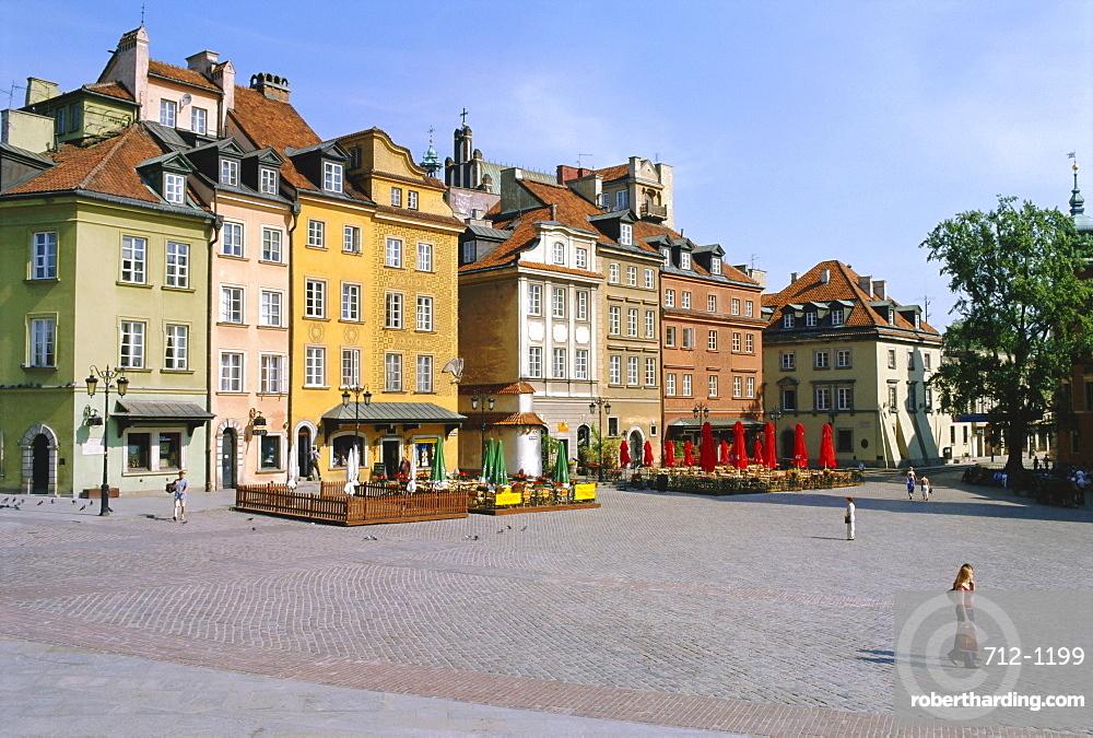 Zamkowy Square, old town, Varsovie. Poland