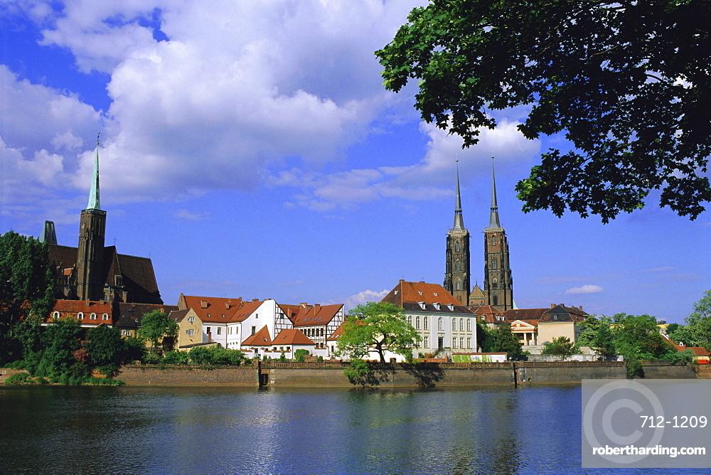 Cathedral Island, Wroclaw (Warsaw), Silesia, Poland