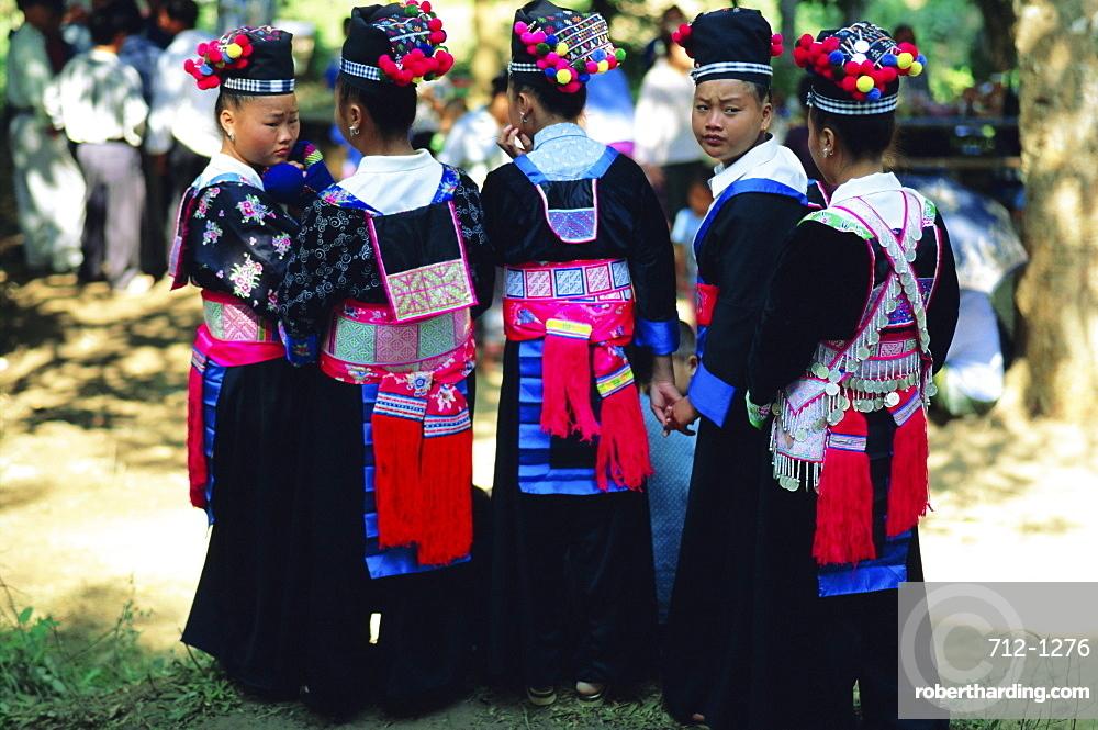 Hmong girls, Luang Prabang, Laos, Asia
