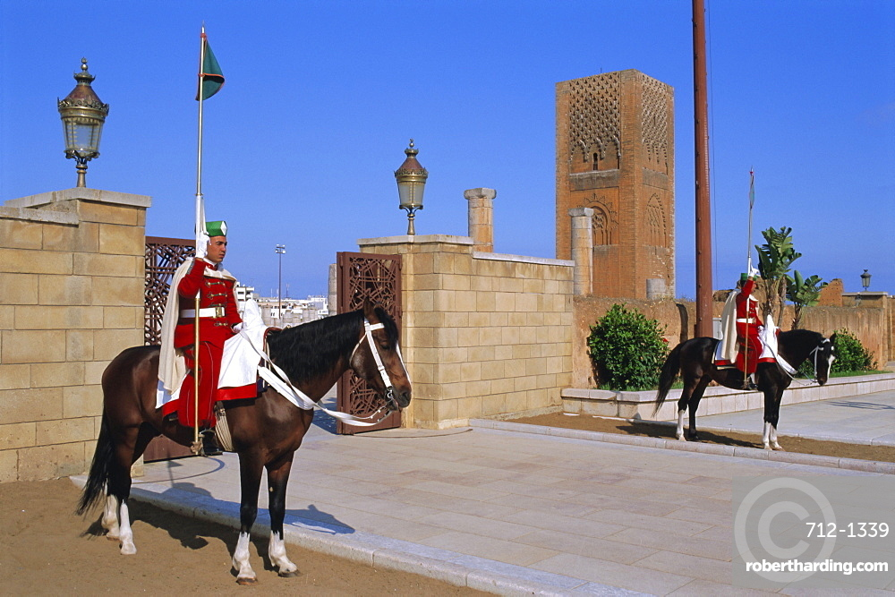 Hassan Mosque and Tower, Rabat, Morocco, North Africa
