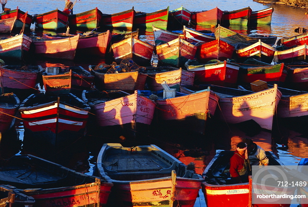 Boats, old Portuguese city, El Jadida, Atlantic coast, Morocco, North Africa, Africa