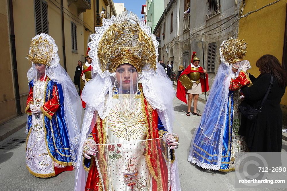 La Veronica, Procession of the Mysteries (Processione dei Misteri viventi), Holy Thursday, Marsala, Sicily, Italy, Europe