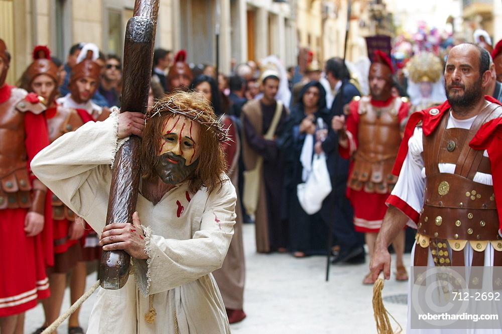 Procession of the Mysteries (Processione dei Misteri viventi), Holy Thursday, Marsala, Sicily, Italy, Europe
