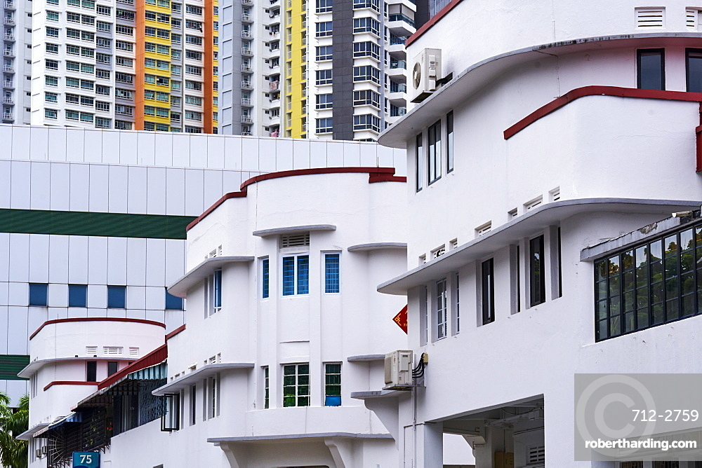Art Deco district of Tiong Bahru, Singapore, Southeast Asia, Asia