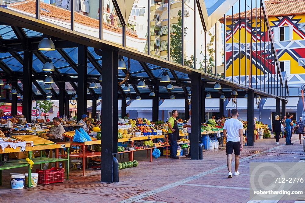 Markata e Pishkut market, Tirana, Albania, Europe