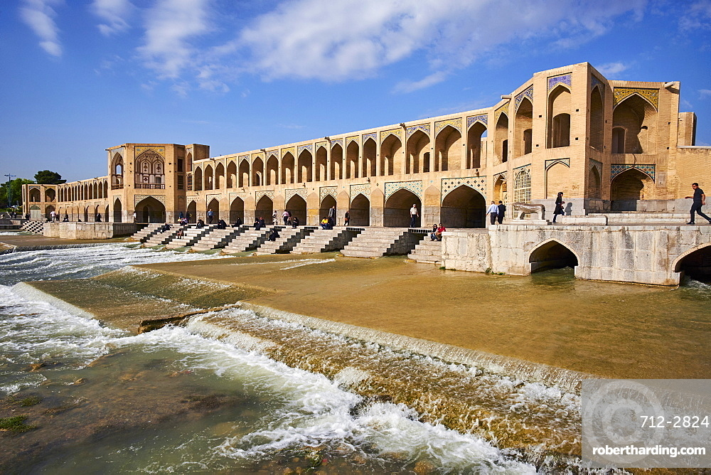 Khaju bridge on the River Zayandeh, Isfahan, Iran, Middle East