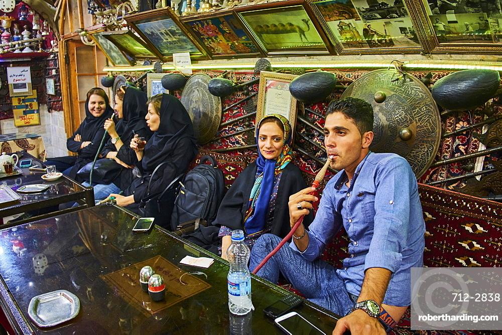Azadegan teahouse, Isfahan, Iran, Middle East