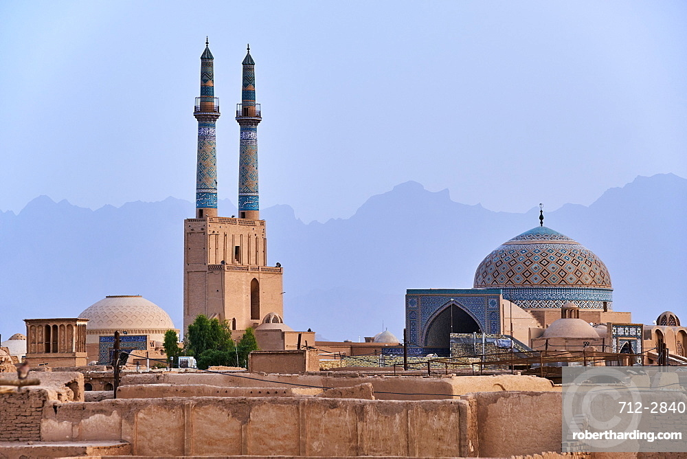Friday Mosque, general view, with badgirs (wind towers), Yazd, Yazd Province, Iran, Middle East