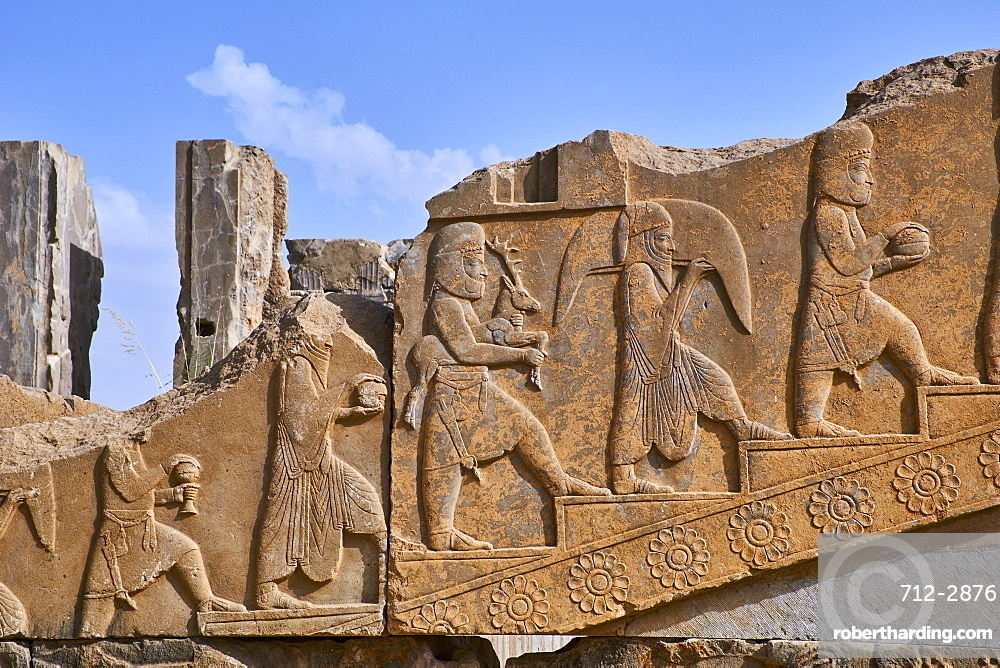 Palace of Darius the First, Persepolis, UNESCO World Heritage Site, Fars Province, Iran, Middle East