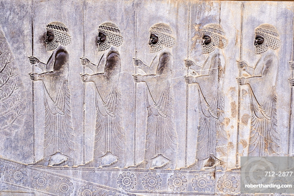 Procession of the tributaries, Persepolis, UNESCO World Heritage Site, Fars Province, Iran, Middle East