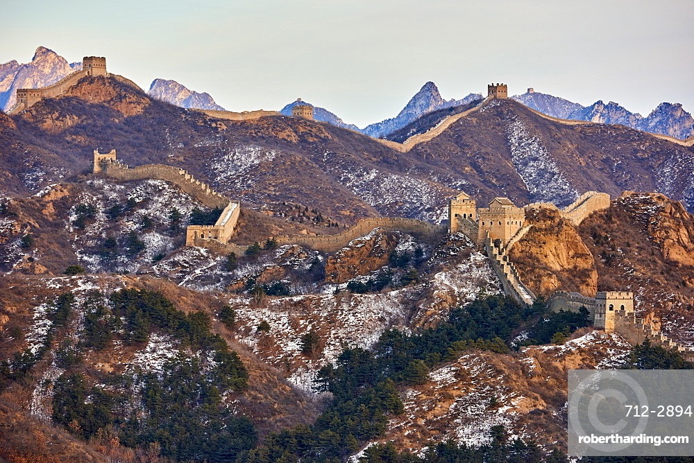 View of the Jinshanling and Simatai sections of the Great Wall of China, Unesco World Heritage Site, China, East Asia