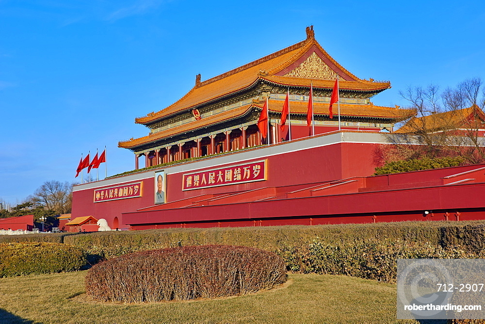 Tiananmen, or the Gate of Heavenly Peace, Forbidden City, Beijing, China, East Asia