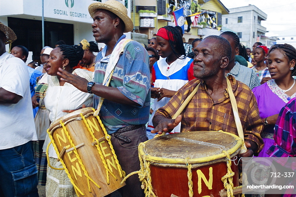 Garifuna Settlement Day, Garifuna festival, Dangriga, Belize, Central America