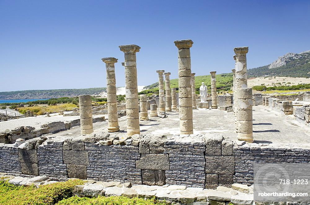 Ruins of Roman town of Baelo Claudia, Bolonia, Costa de la Luz, Cadiz Province, Andalucia (Andalusia), Spain, Europe