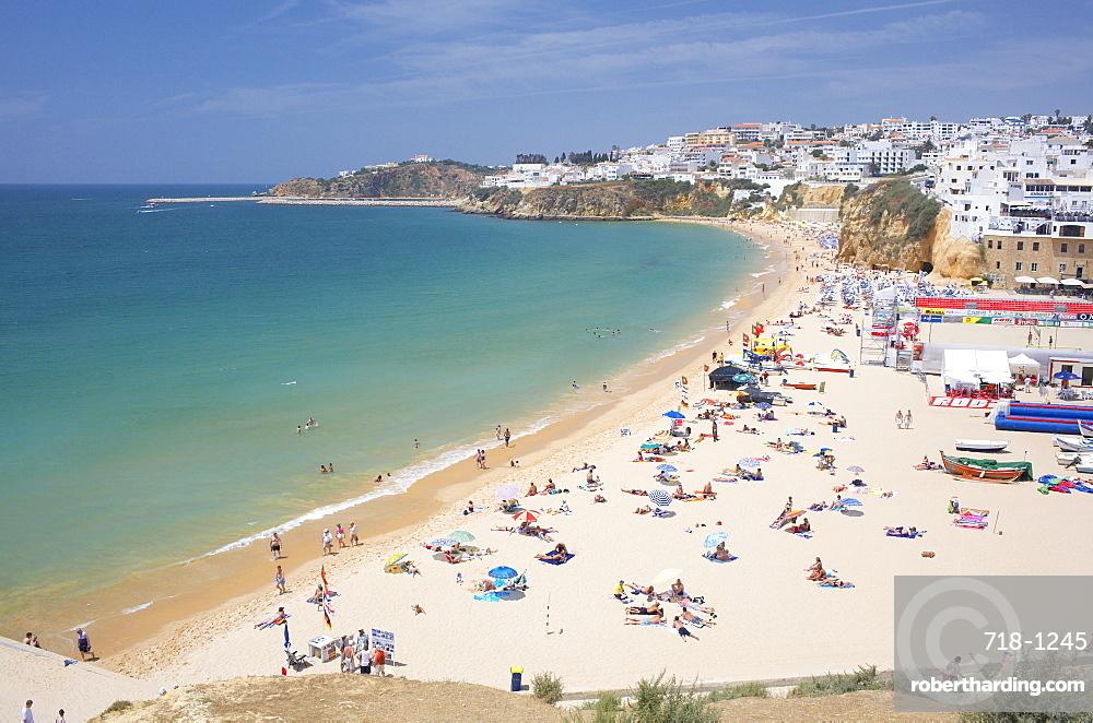 Albufeira beach and village, Algarve, Portugal, Europe