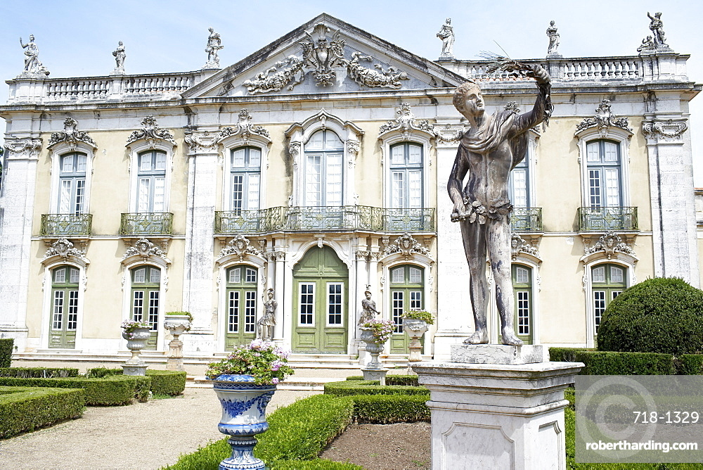 The Queluz Palace, once the summer residence of the Braganza Kings, Queluz, near Lisbon, Portugal, Europe