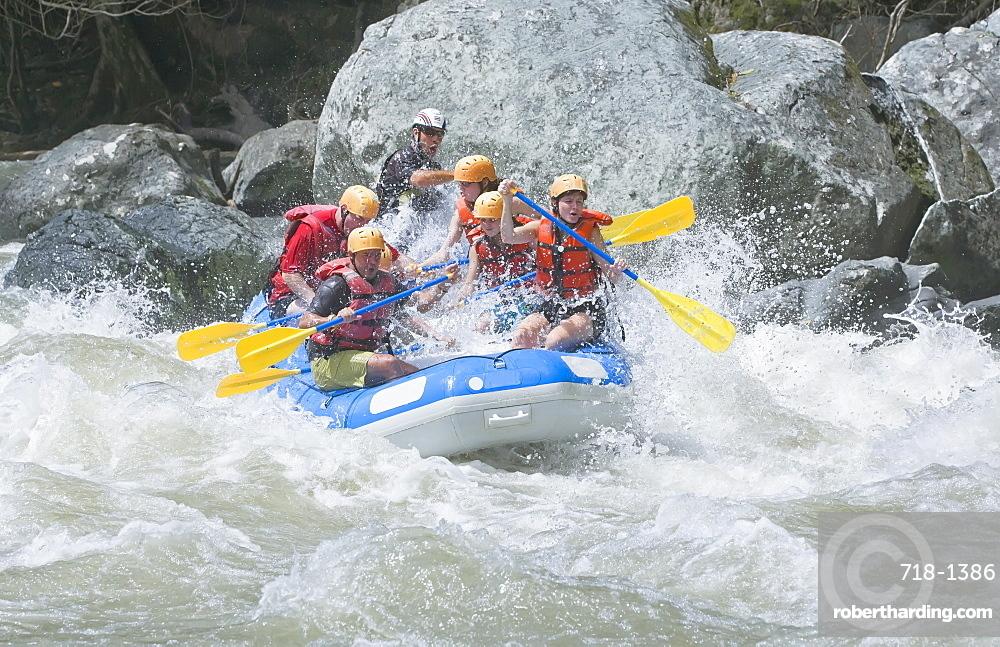 White water rafting, Pacuare River, Turrialba, Costa Rica, Central America
