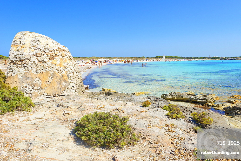 Ses Illetes beach, Formentera, Balearic Islands, Spain, Mediterranean, Europe