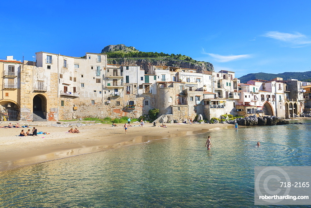 Old town, Cefalu, Sicily, Italy, Mediterranean, Europe