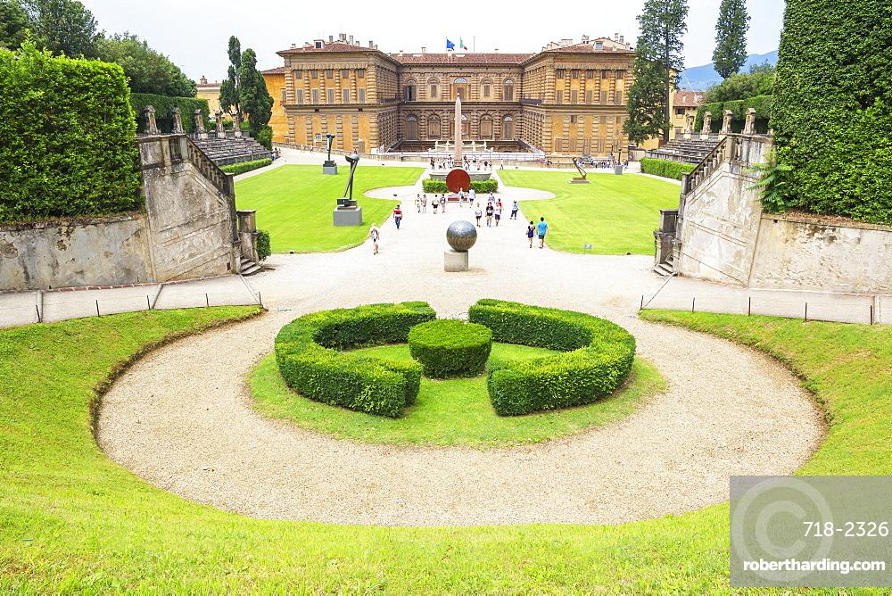 Pitti palace and garden, Florence, Tuscany, Italy, Europe