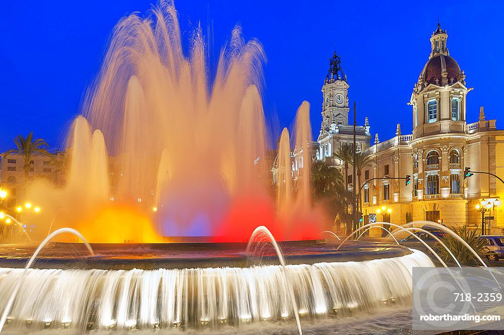 Magic Fountain, Valencia, Comunidad Autonoma de Valencia, Spain, Europe