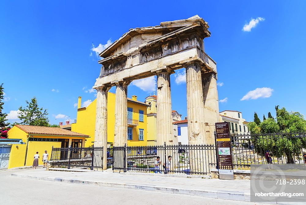 The Gate of Athena Archegetis in the Roman Agora, Athens, Greece, Europe